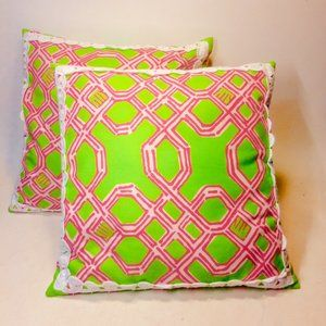 Lilly Pulitzer Pottery Barn Throw Pillows